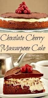 cuisine mascarpone chocolate cherry mascarpone cake the food s guide to
