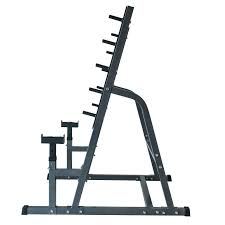 deluxe combo squat bench rack fitness exercise equipment safety