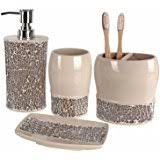 Crackle Glass Bathroom Accessories by Amazon Com Creative Scents Brushed Nickel Bathroom Accessories