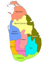 map of province provinces of sri lanka