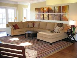 urban living room style with brown suede u shaped oversized