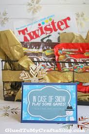 family game night gift basket idea w free card printable glued