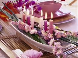 table decorations with candles and flowers attractive table decoration with exotic flowers 15 great ideas