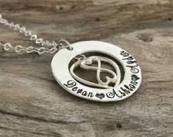 Infinity Necklace With Name Personalized Infinity Necklace Etsy