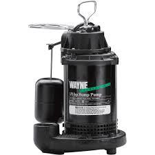 wayne cast iron submersible sump pump u2014 4200 gph 1 2 hp 1 1 2in