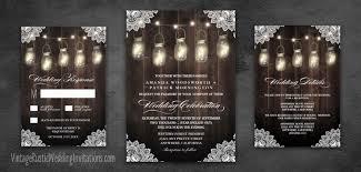 rustic wedding invitations home vintage rustic wedding invitations