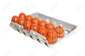 sports easter eggs a of basketball easter themed sports eggs stock photo