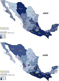 Mexico States Map by Abortion Legislation Maternal Healthcare Fertility Female