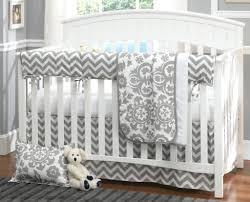 Grey Nursery Bedding Set Interior Chevron Crib Bedding Solpool Info