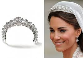kate middleton wedding tiara kate middleton wearing the 1934 cartier halo tiara for wedding