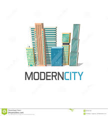 Conceptmodern by City Buildings Logo Isolated Town Construction Concept Modern
