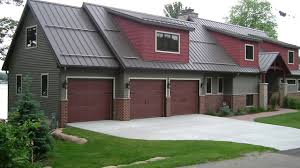 gallery r and r doors dark green and burgundy home with three car garage
