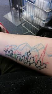 a skyline of everywhere i u0027ve lived drawn by a friend of mine and