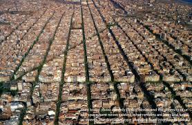 barcelona city view barcelona block city
