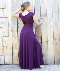 calypso cap sleeve maxi dress organic fabric made to order