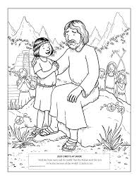 jesus the good shepherd coloring pages family home evening jesus visits the nephites lesson fearless