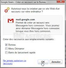 mettre un raccourci sur le bureau pc astuces travailler hors ligne avec gmail