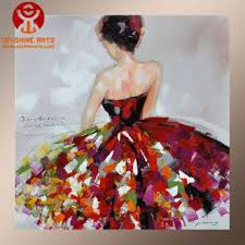 modern beautiful dance oil painting for home decor global