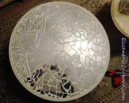Diy Mosaic Table The Eccentric Leopard Mirror Mosaic Table Diy
