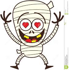 cute halloween mummy in love stock vector image 45348370