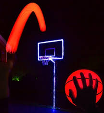 led light up basketball hoop kit