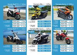 Honda Price List In Philippines Bohol Scooter Rentals In Panglao Tagbilaran U2022 Bohol Guide
