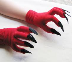 black claws gloves with claws and black for costume or