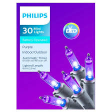 philips 30ct halloween battery operated led smooth mini lights