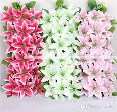 decorative flower 2018 artificial silk lily floral arrangements archway row flowers