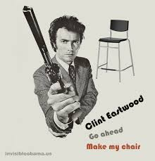 Clint Eastwood Chair Meme - go ahead make my chair clint eastwood s empty chair speech