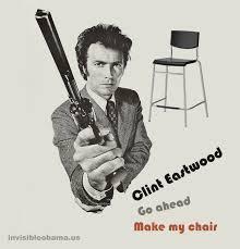 Clint Eastwood Chair Meme - go ahead make my chair clint eastwood s empty chair speech