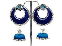 threaded earrings silk threaded earring at rs 199 pair s ram murti nagar