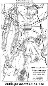 Gettysburg Map 1863 Map Of The Battle Of Gettysburg From Harper U0027s Weekly Battle