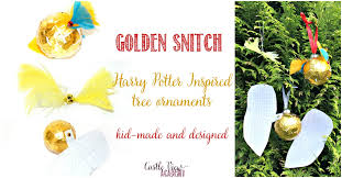 kid made golden snitch tree ornaments 2 variations castle view