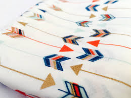 gold colorful arrow print fabric metallic gold coral mint gold colorful arrow print fabric metallic gold coral mint and navy ideal for baby nursery bedding and home decor crafts
