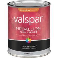 valspar medallion 100 acrylic paint u0026 primer semi gloss exterior