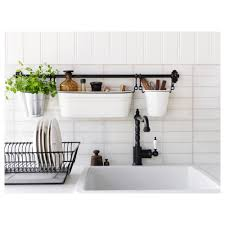 ikea hanging kitchen storage fintorp condiment stand white black 37 13 cm ikea fintorp kitchen