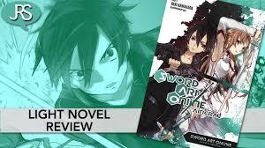 Sword Art Online Light Novel Sword Art Online Volume 1 Aincrad Light Novel Review Youtube