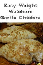cuisine weight watchers garlic chicken with weight watcher cook eat go