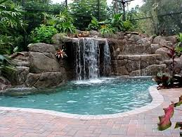 waterfall pools for gorgeously aesthetic backyard