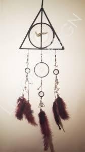 reliques de la mort attrape reves triangle de branches blanc et harry potter dream catcher i made for my friend s birthday