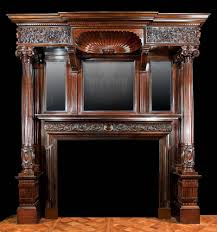 antique mahogany late victorian fireplace mantel fireplaces