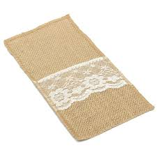 Rug Holder Aliexpress Com Buy Wholesale 1pc Burlap Lace Cutlery Pouch