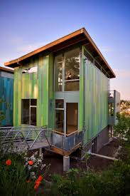 exterior small affordable eco friendly home design with terraced