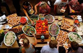 corporate buffet catering for large groups order in