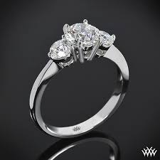 engagement ring settings only trois brillant diamond engagement ring 846