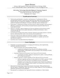 Sample Resume Information Technology Information Technology Specialist Cover Letter Nature Vs Nurture