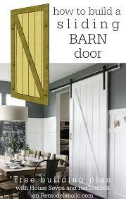 plans for building a barn remodelaholic simple diy barn door tutorial