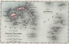 Map Of Fiji Fiji Colony