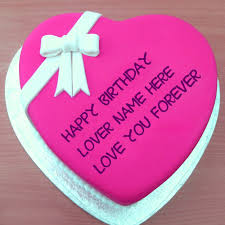 love u forever birthday name cakes for lovers wishes pictures